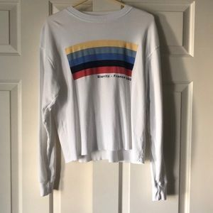 Brandy Melville cropped white long sleeve